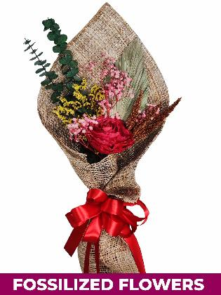 1 Dried Red Roses Burlap PH Province