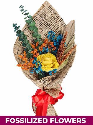 1 Dried Yellow Roses Burlap PH Province