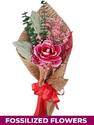 1 Dried Peonies Burlap CH Province