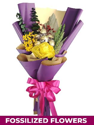 Yellow Rose Purple/Gold