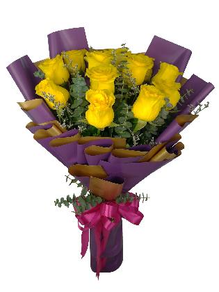 12 Stems Yellow Rose